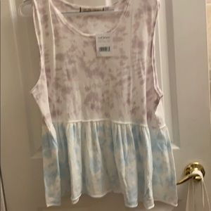 Free People - Brand New - white, purple,and blue